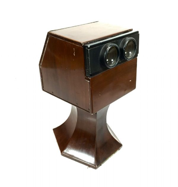 Antique French L.A Gaumont & Cie Tabletop Stereoscope / Stereo Viewer C.1920